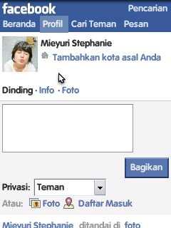 Setelah mengganti nama facebook kenama sebelumnya.kemudian masuk